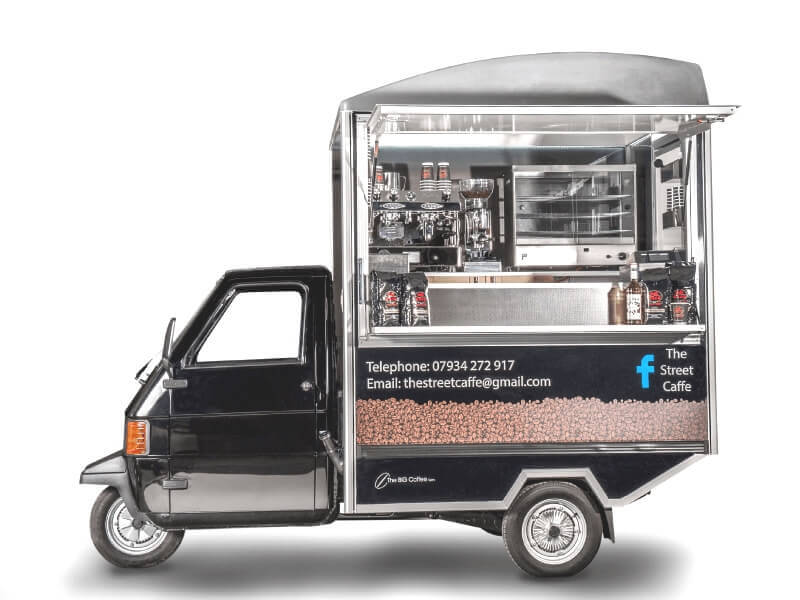 Mobile Coffee Van - Internal Vending Ape
