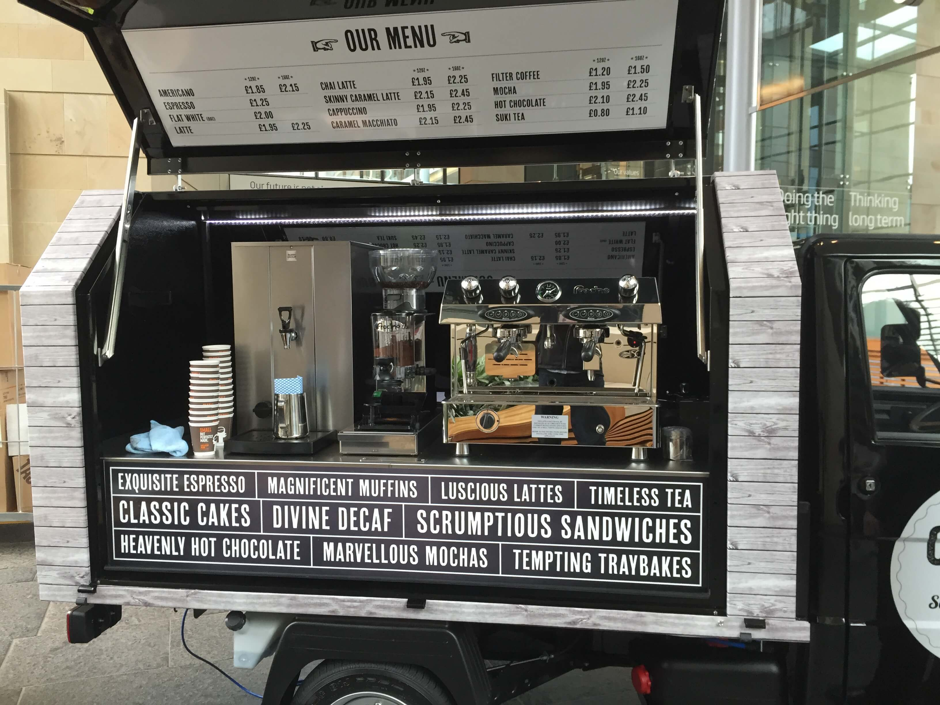 Mobile Coffee Van - Piaggio Ape Gull Wing