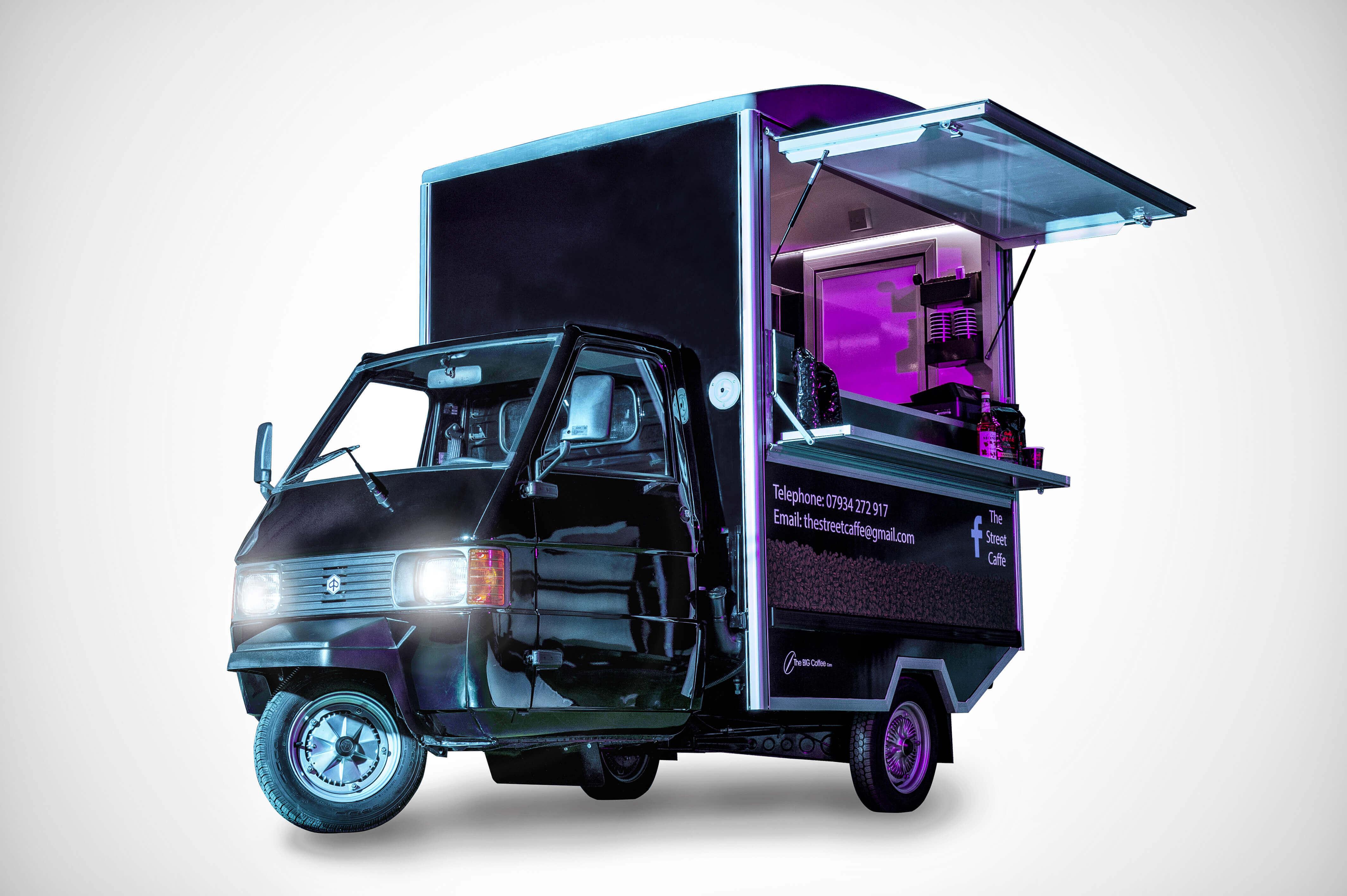 Internal Vend Ape - Mobile Coffee Van
