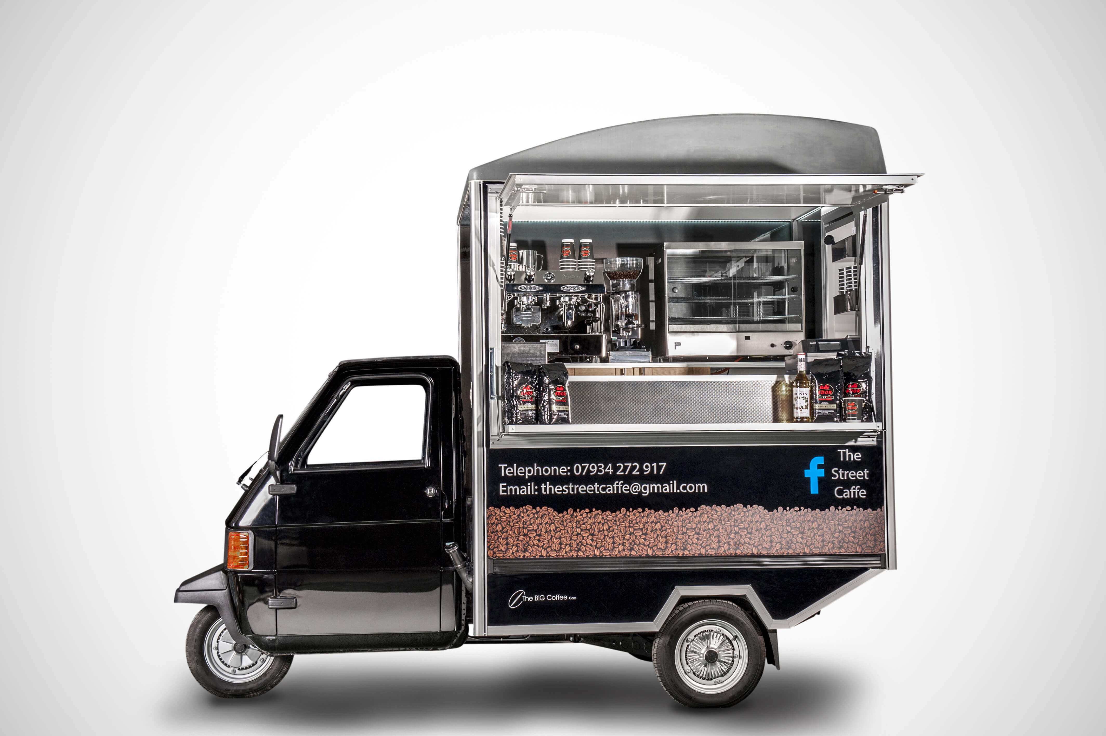 Internal Vend Ape - Mobile Coffee Van