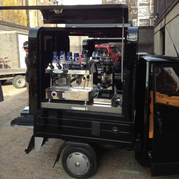 Gull Wing - Mobile Coffee Cart - Piaggio Ape