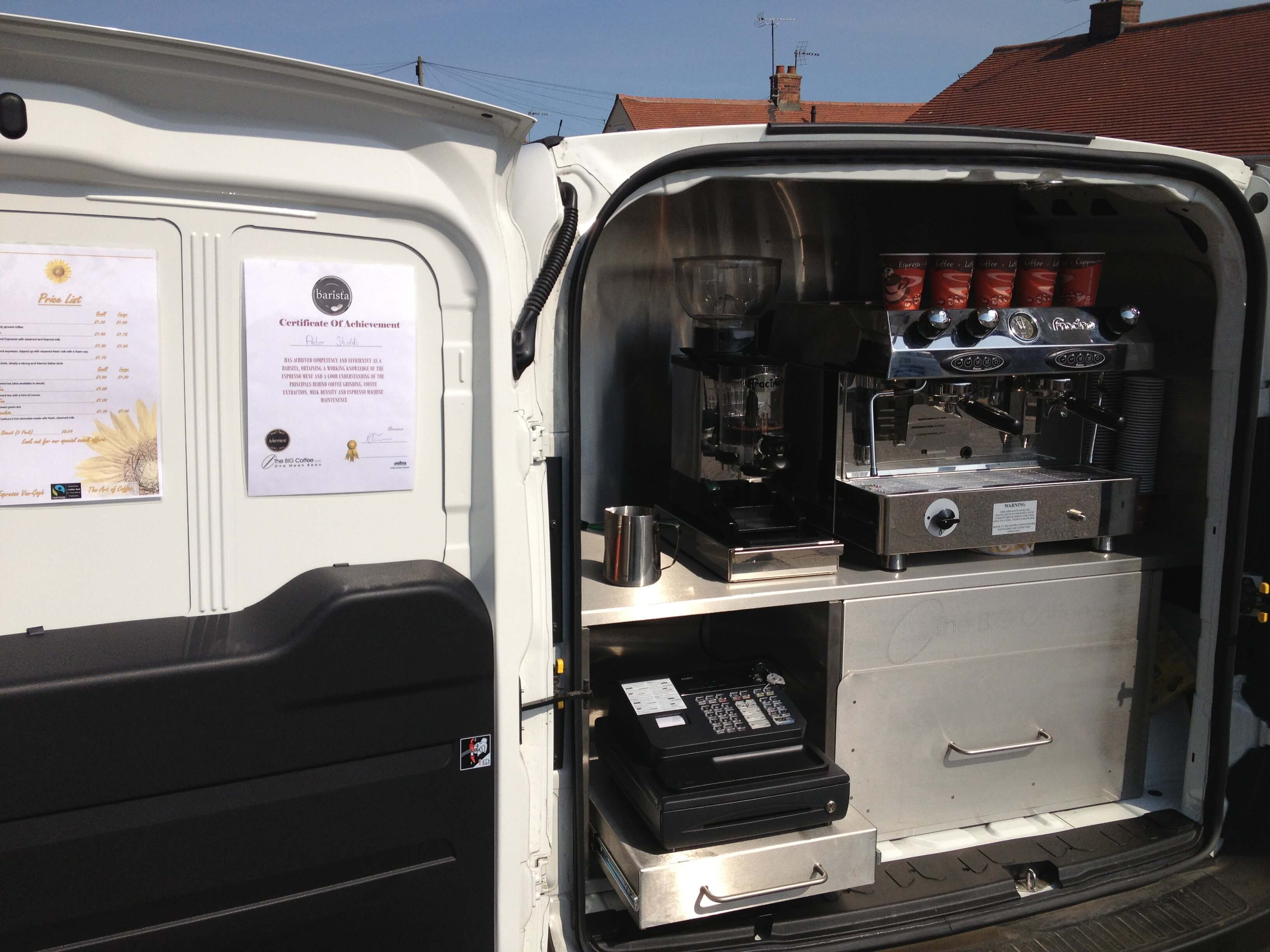 Vauxhall Combo Coffee Conversion