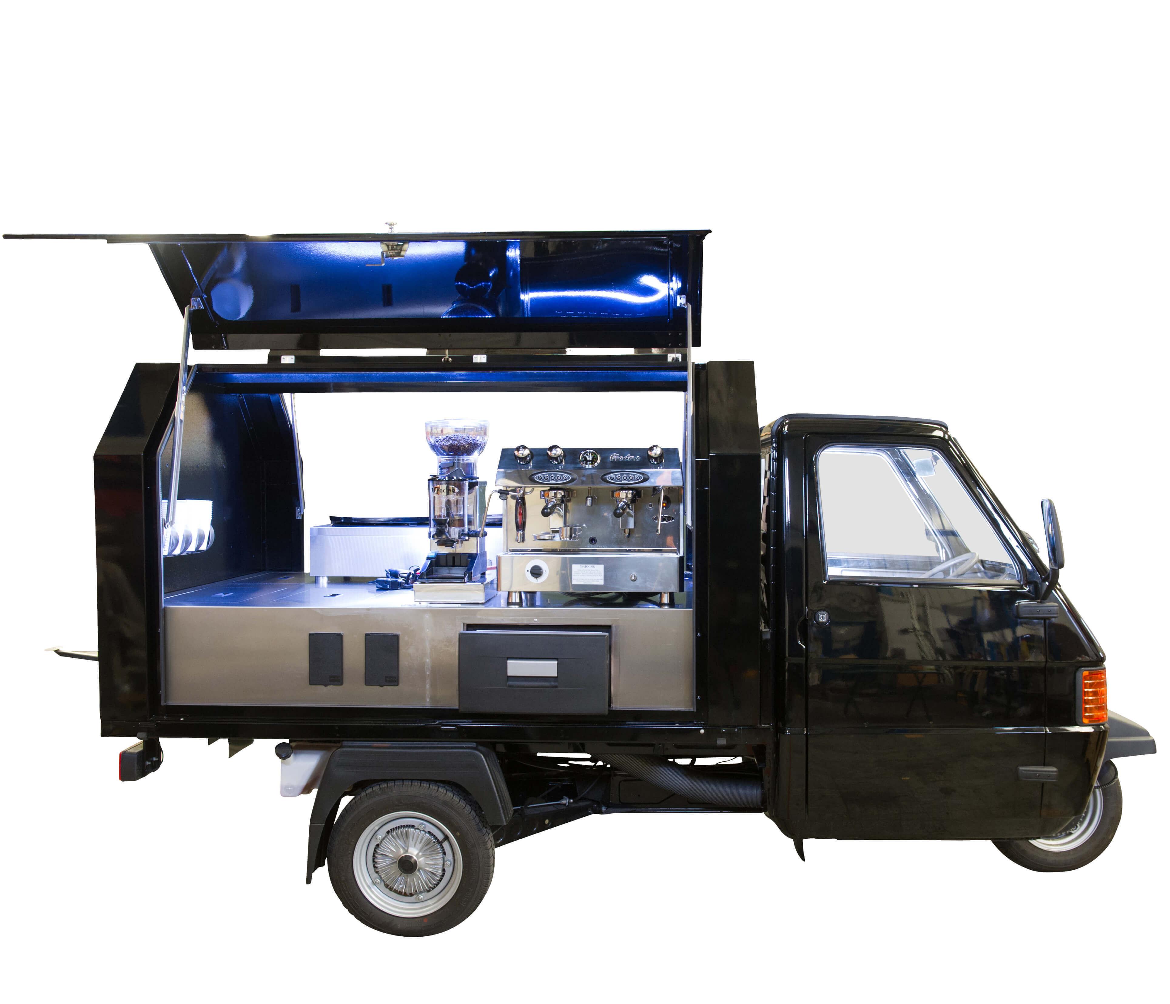 Ape 50 Gull Wing - Coffee Cart