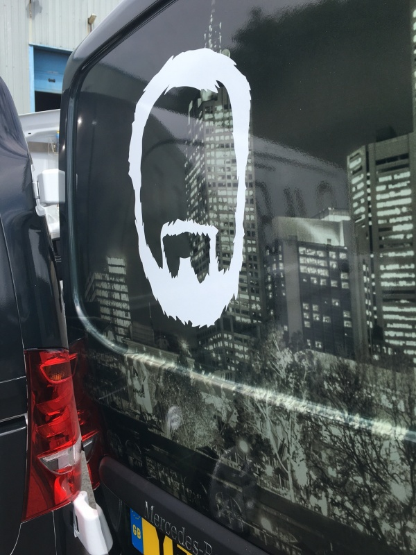 Mobile Coffee Van Conversion - Graphics Close Up