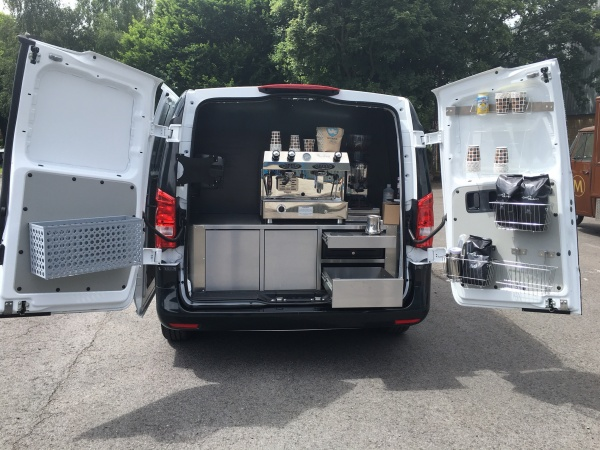 Mobile Coffee Van Interior Equipment
