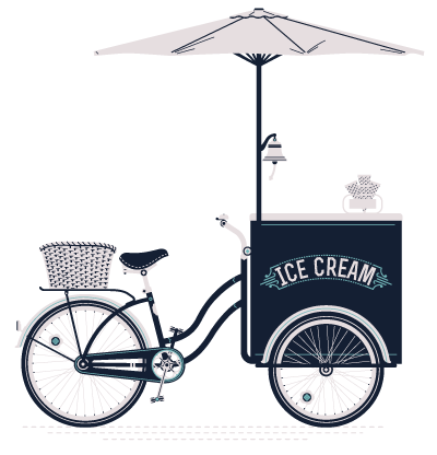 Ice Cream Bike - Big Coffee Trike