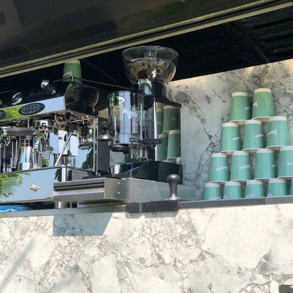 mobile prosecco and coffee bar