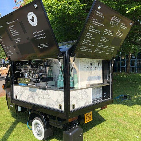 mobile prosecco and coffee bar